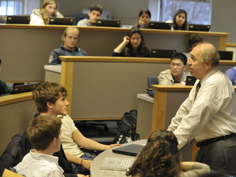 Photo of a Babson Professor teaching